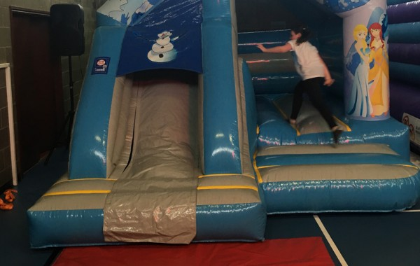 Frozen Bouncy Castle with Slide