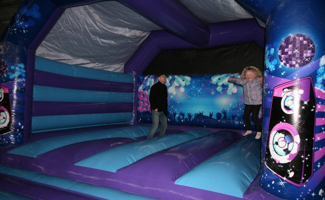 Large Adult Disco Bouncy Castle
