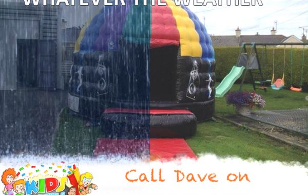 Large Disco Dome Bouncy Castle